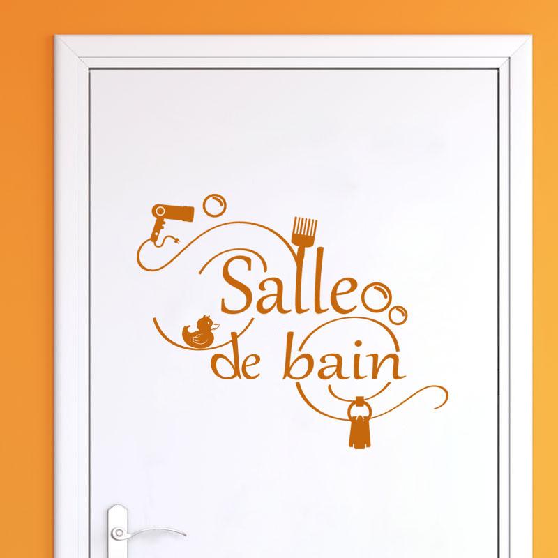 Sticker Salle de bain accessoires – Stickers Salle de Bain Mur salle ...