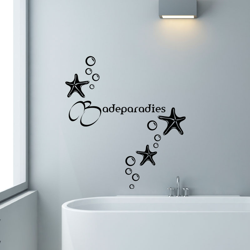 Sticker salle de bain citation Badeparadies