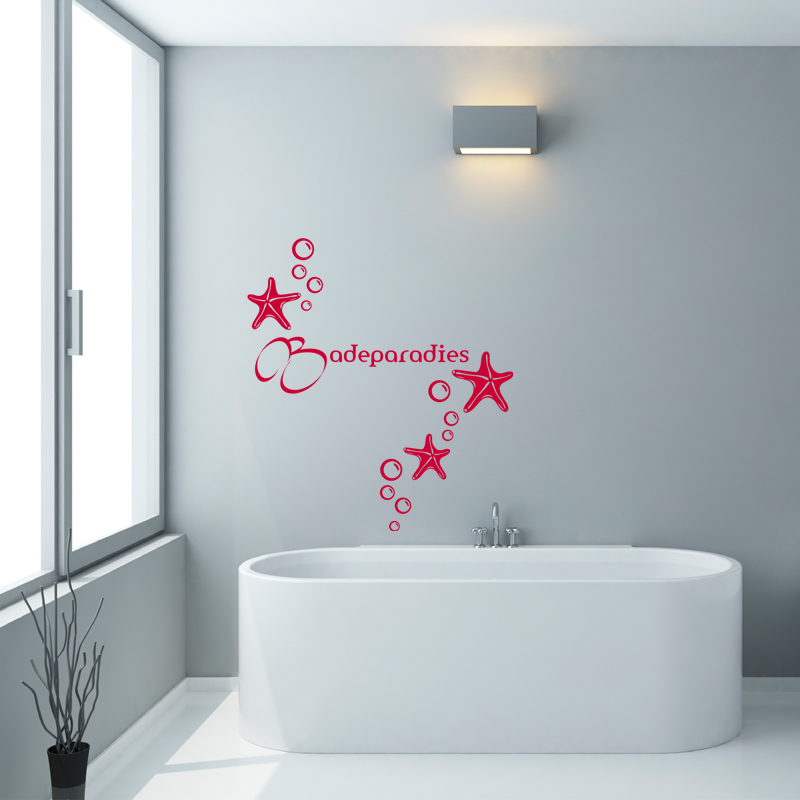 sticker salle de bain citation badeparadies stickers citations allemand ambiance sticker. Black Bedroom Furniture Sets. Home Design Ideas