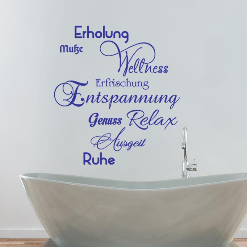 Sticker salle de bain citation erholung entspannung relax stickers stickers citations - Citation salle de bain ...