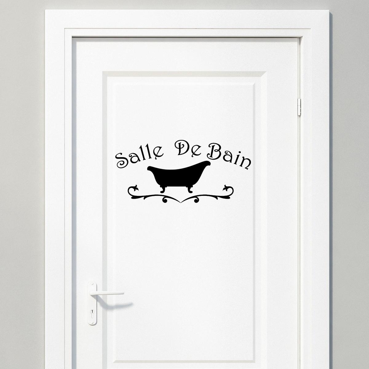 Sticker Salle De Bain Design Baignoire Stickers SALLE DE