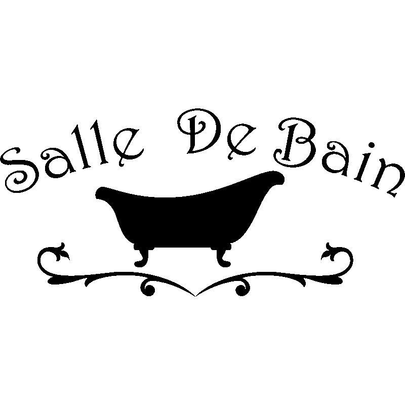 Sticker Salle de bain design baignoire - Stickers SALLE DE BAIN ET ...