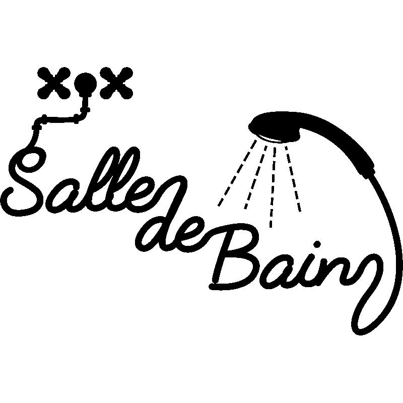 Sticker Salle de bain douche – Stickers Salle de Bain Mur salle de ...