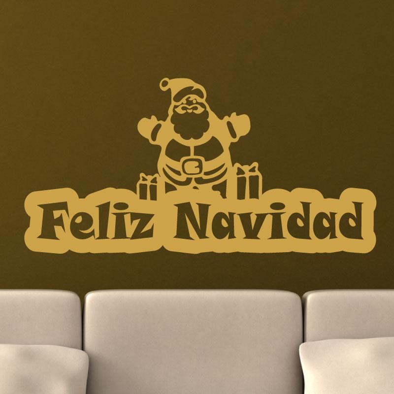 7 Diseños Feliz Español Castellano Navidad Saludos Etiquetas Adhesivas