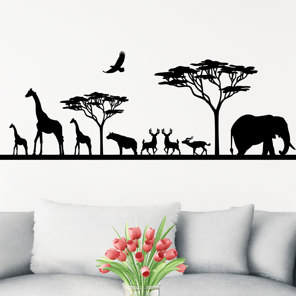 Sticker Savane Africaine Et Ses Animaux Stickers