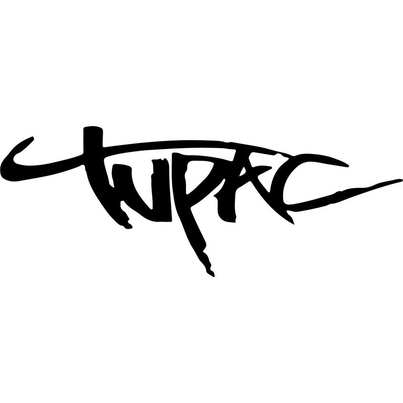 Carrelage Mural Salon : Sticker signature tupac stickers citations film et