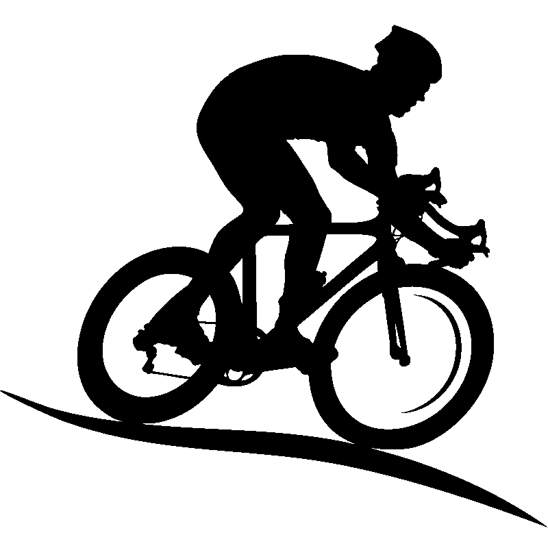 Cycliste Image stickers sport et football - sticker silhouette cycliste | ambiance