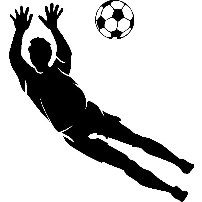Stickers sport et football sticker silhouette gardien de - Dessin gardien de but ...