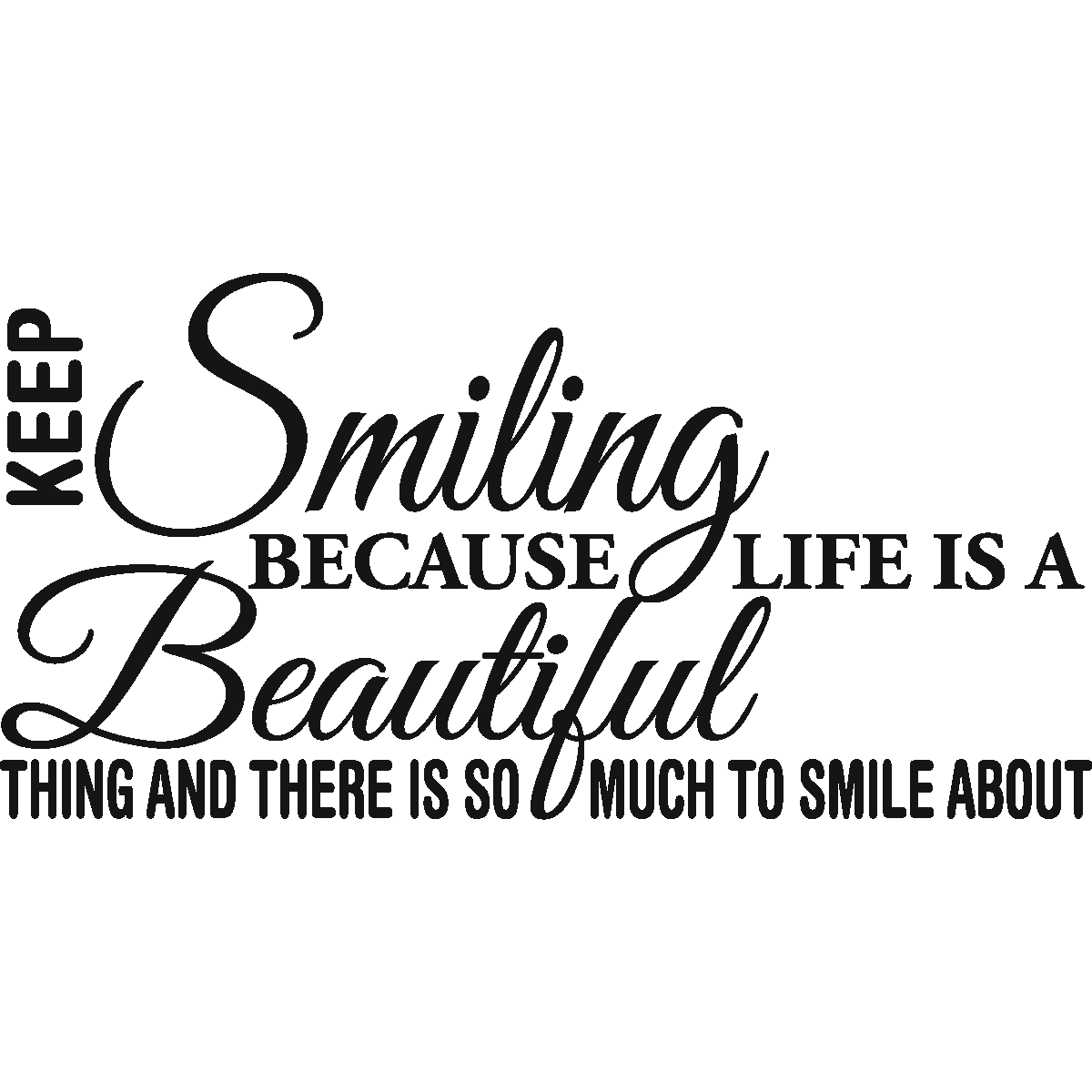 Stickers muraux citations sticker smiling is beautiful ambiance sticker com