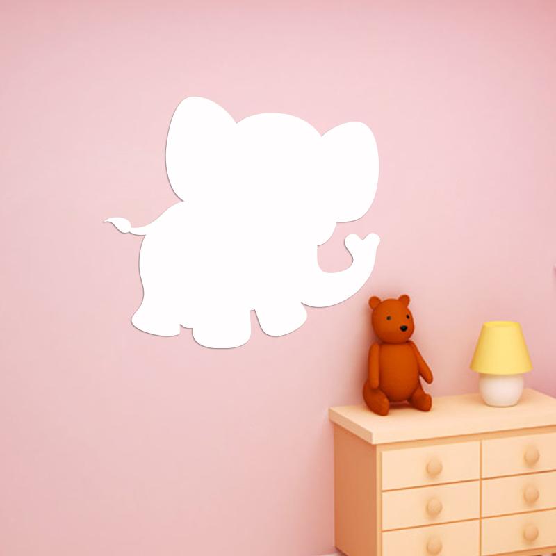 sticker tableau blanc silhouette petit l phant gar ons tous les stickers gar ons ambiance. Black Bedroom Furniture Sets. Home Design Ideas