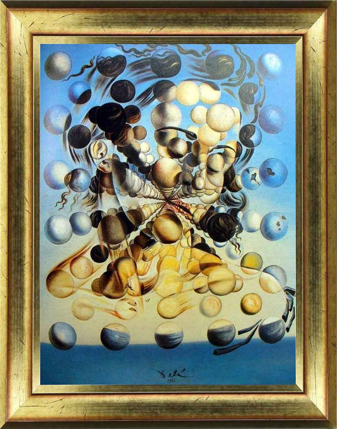 Wall Decal Painting Dali Gala Of Spheres Wall Decal Wall Decal Art And Design Abstract Ambiance Sticker