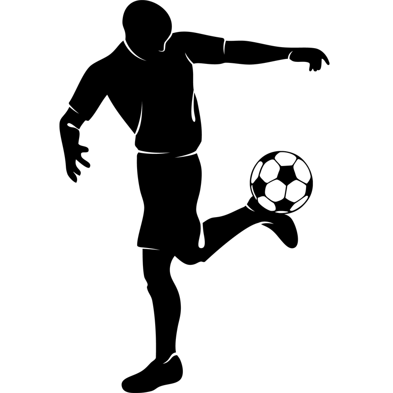 Stickers sport et football sticker talonnade joueur foot - Dessins de football ...