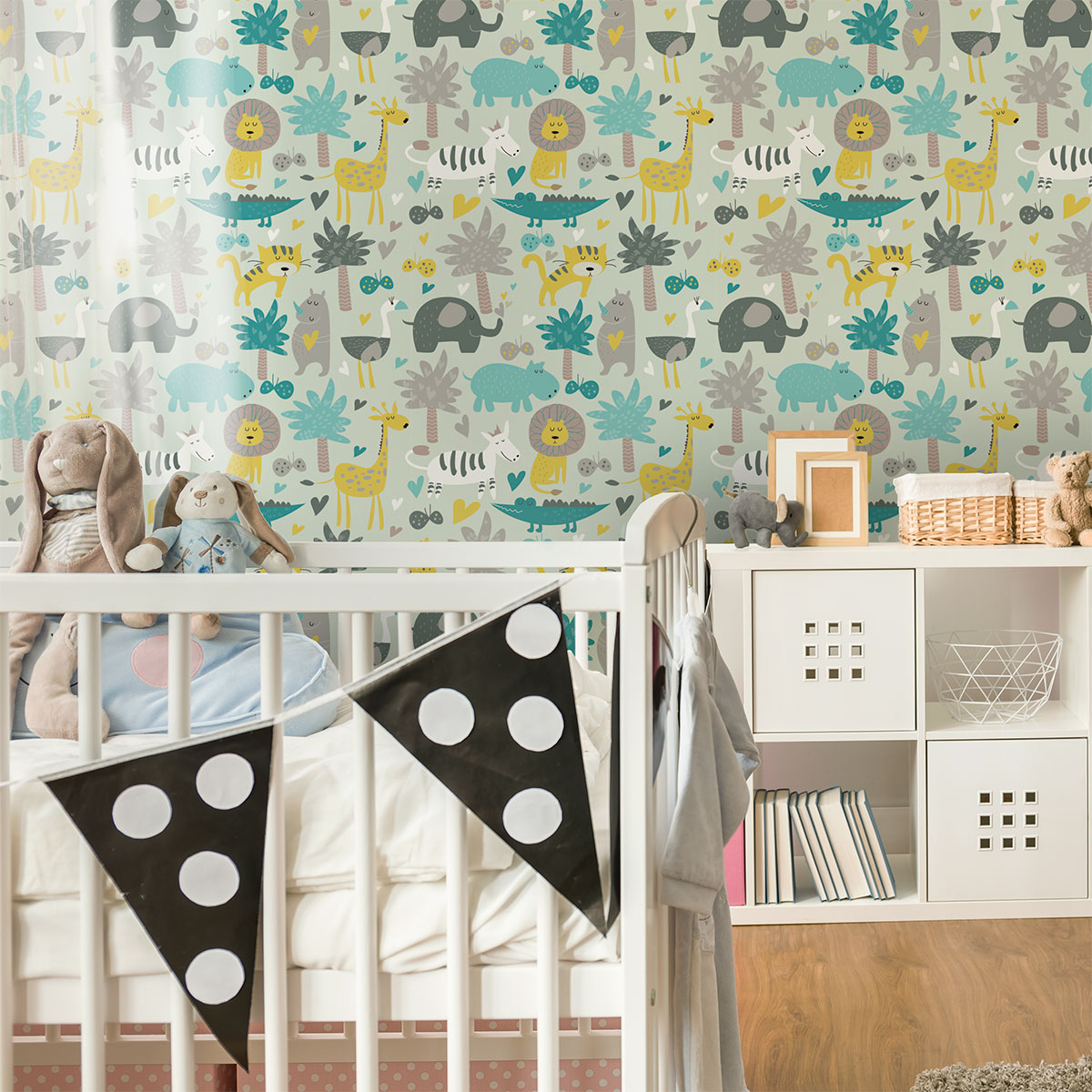 Sticker Tapisserie Chambre Enfant Animaux Sauvages Animaux