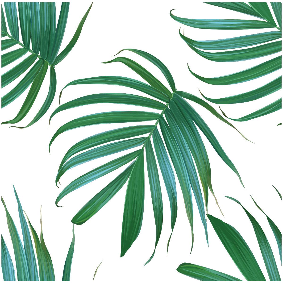 Sticker Tapisserie Tropicale Feuilles De Palmiers