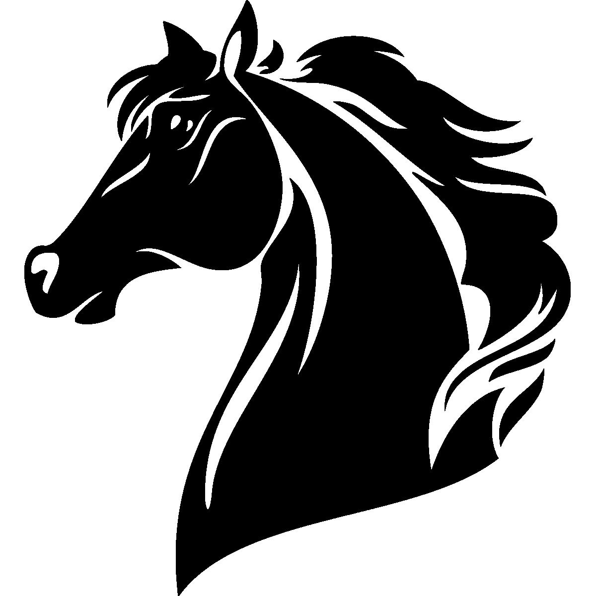 Cheval Tete stickers muraux animaux - sticker tête de cheval | ambiance-sticker