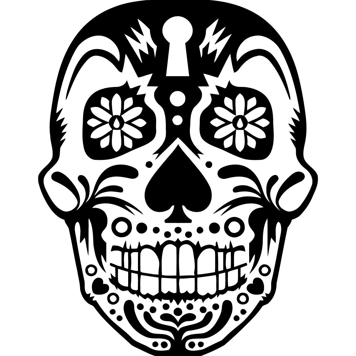 Carrelage Mural Salon : Sticker tête de mort décoré stickers fêtes