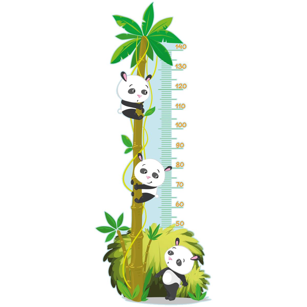 Sticker Toise Arbre Des Pandas