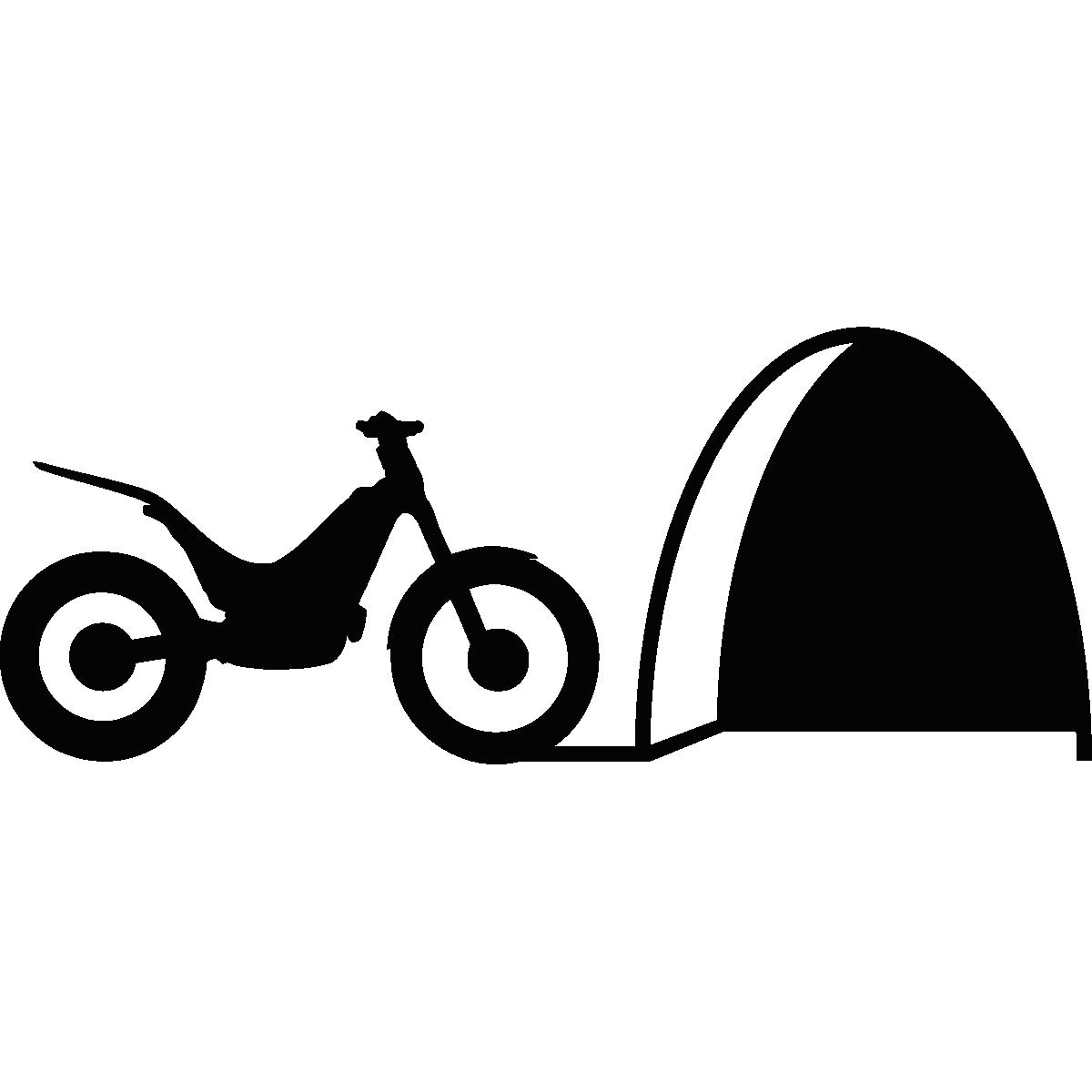 Stickers pour les bébés sticker trou de souris avec la moto ambiance sticker