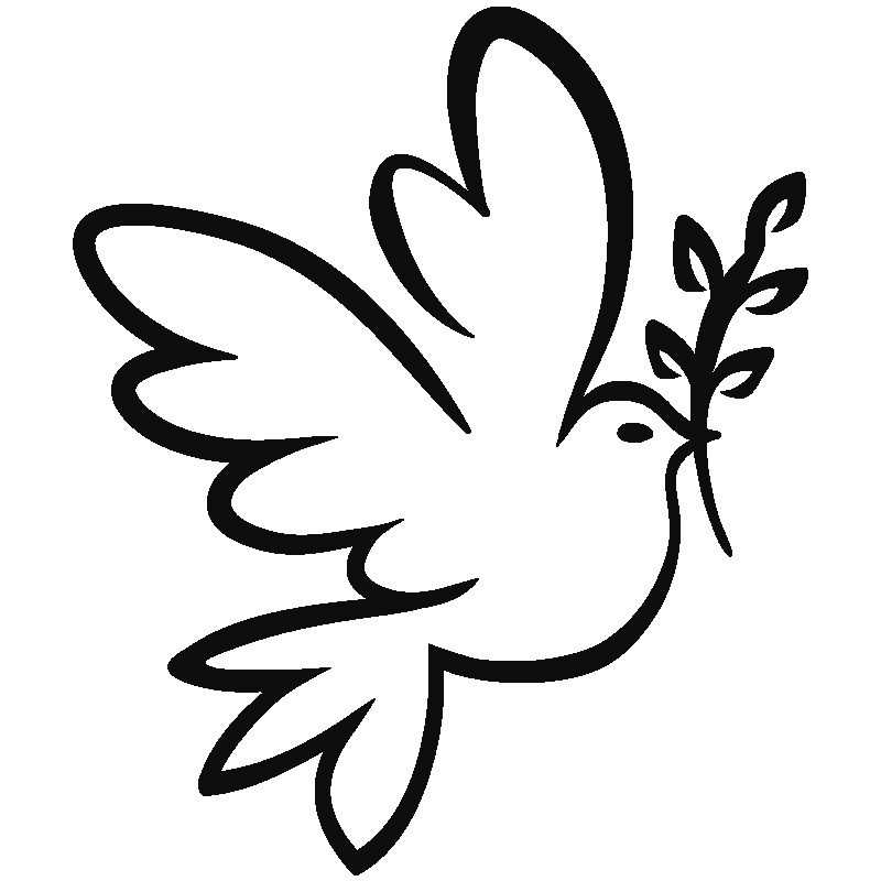 Stickers muraux Animaux - Sticker colombe de la paix | Ambiance-sticker.com