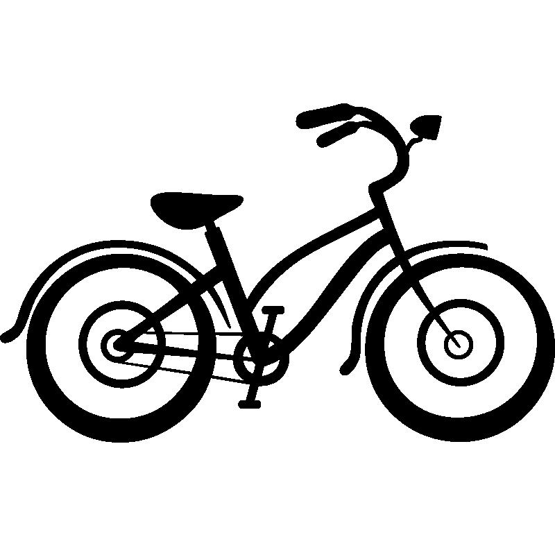 Stickers de silhouettes et personnages - Sticker Vélo pour ...