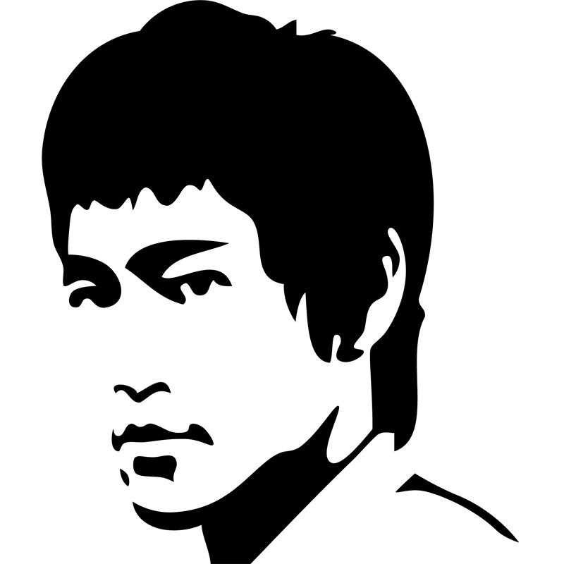 Stickers Muraux Cin 233 Ma Sticker Silhouette Bruce Lee