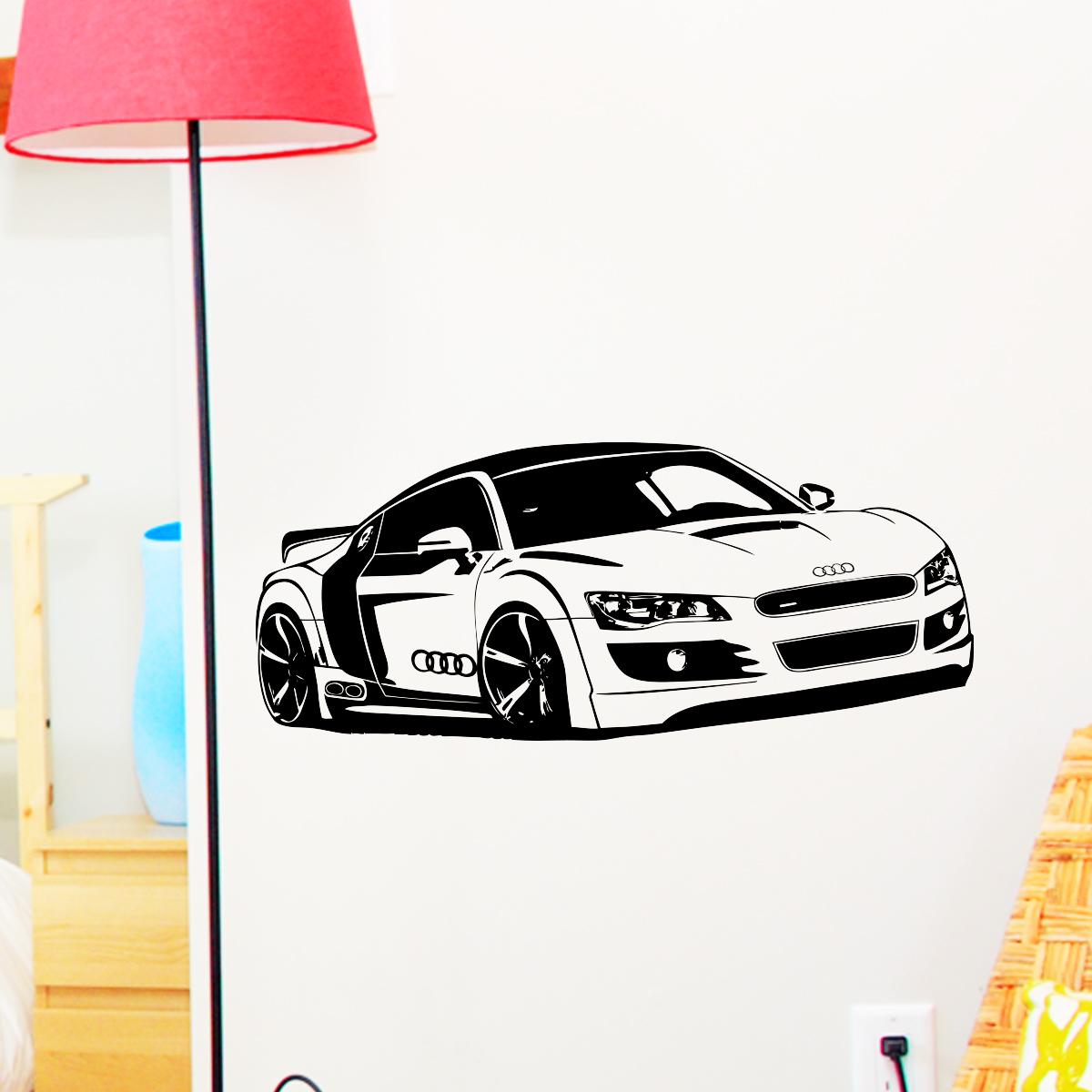 Car Decals Accesorios de autom/óviles modificados Maserati est/ándar Ingl/és Alfabeto Marca de Logotipo sufijo despu/és de calcoman/ías for autom/óviles Color : Black
