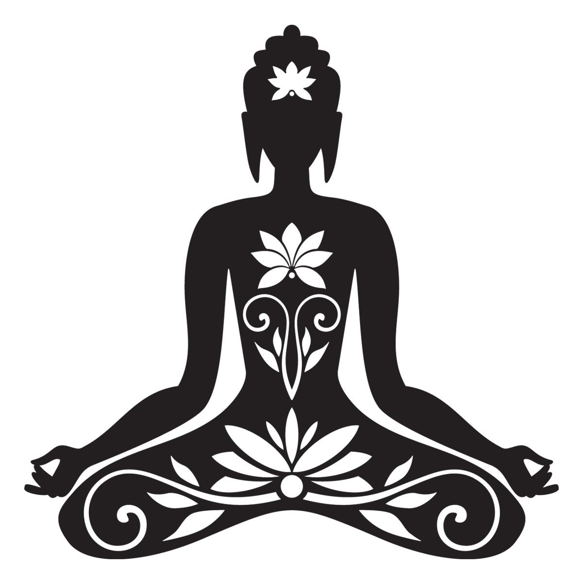 Sticker muraux zen sticker mural bouddha assis ambiance - Dessin de bouddha a imprimer ...