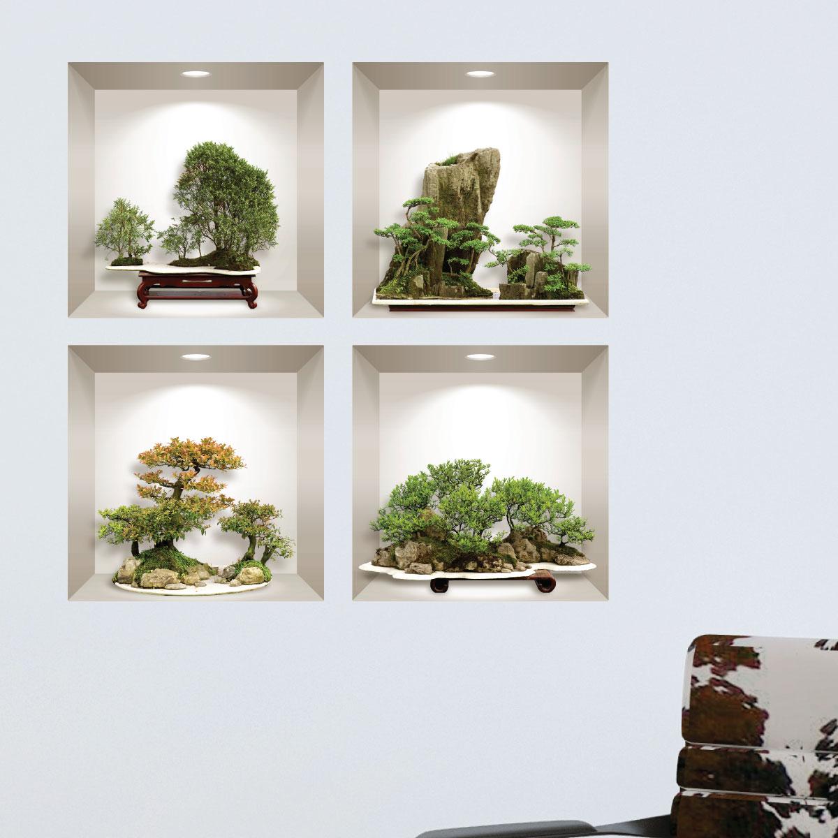 Sticker autocollant Cadre bambou Orchidée 7109