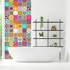 Stickers carrelages salle de bain