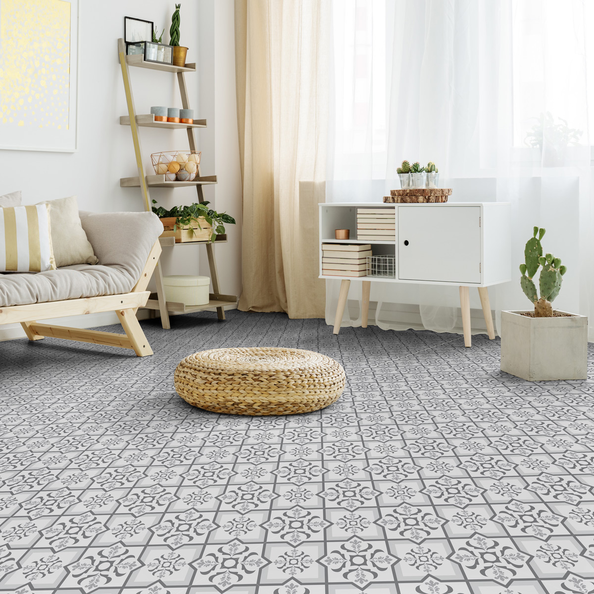 stickers carrelages sol dante anti d rapant 60x100 cm. Black Bedroom Furniture Sets. Home Design Ideas