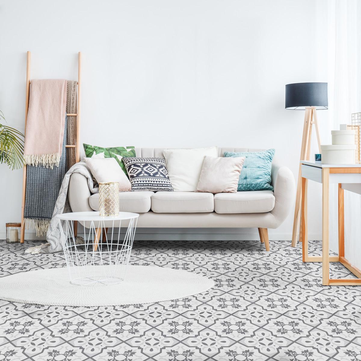 stickers carrelages sol decisa anti d rapant 60x100 cm. Black Bedroom Furniture Sets. Home Design Ideas