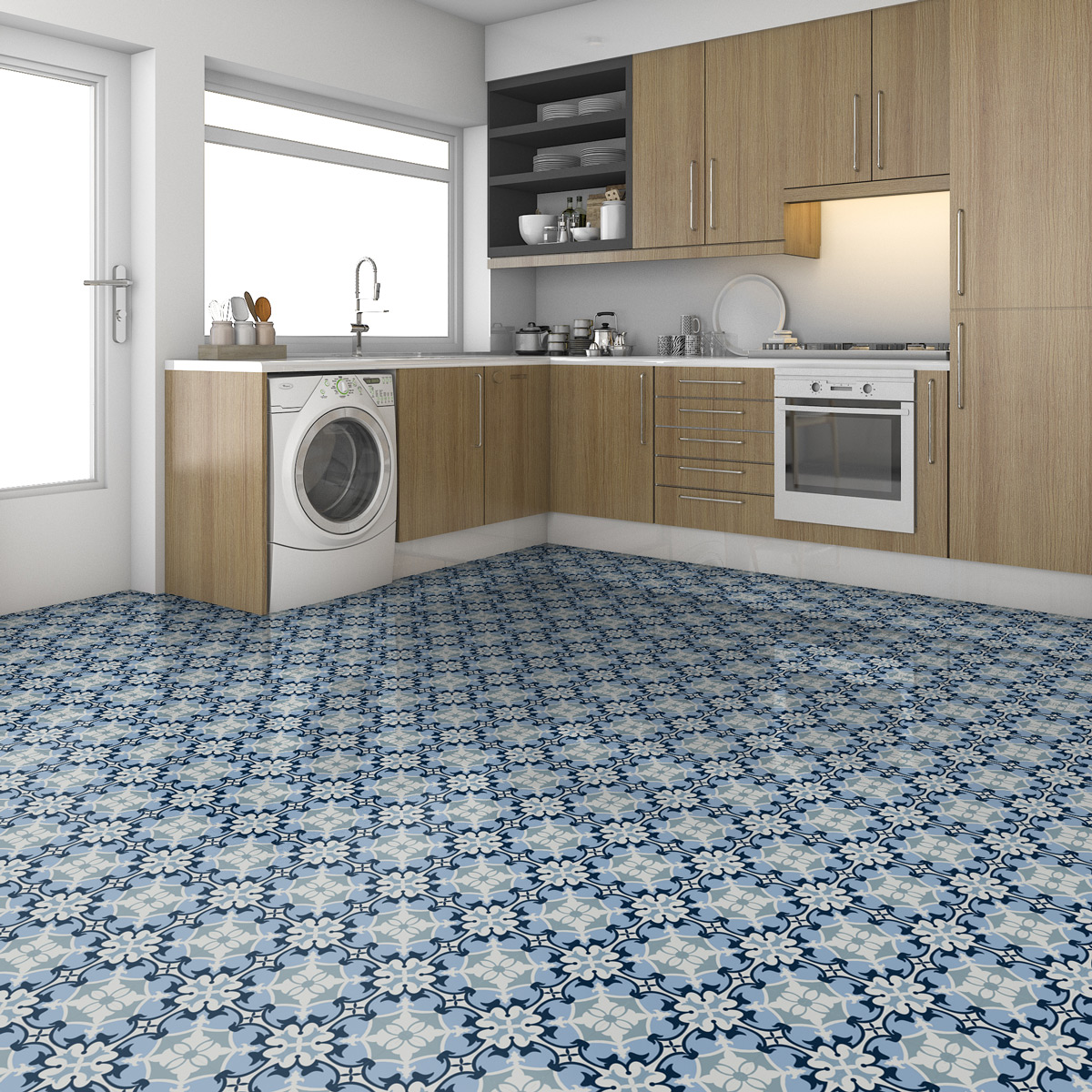 stickers carrelages sol emilioneo anti d rapant 60x100. Black Bedroom Furniture Sets. Home Design Ideas