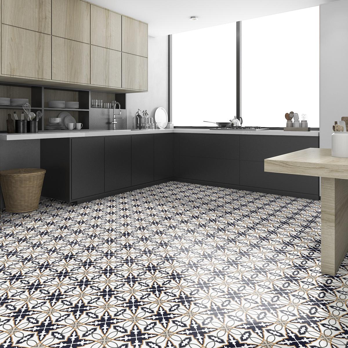 stickers carrelages sol gullieta anti d rapant 60x100 cm. Black Bedroom Furniture Sets. Home Design Ideas