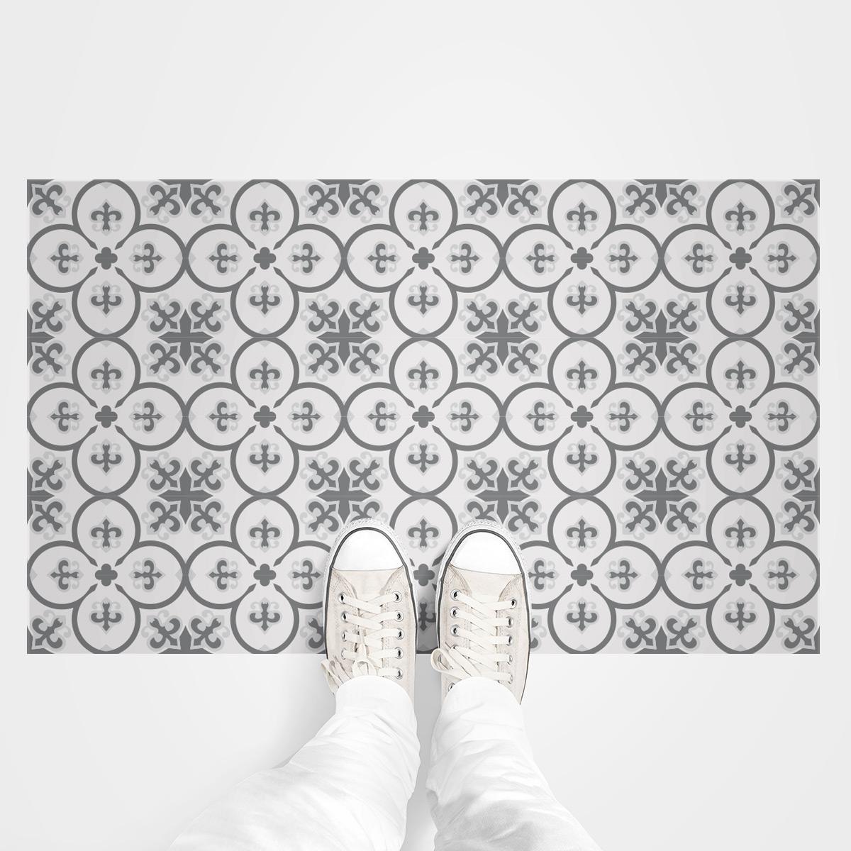 stickers carrelages sol leonardo anti d rapant 60x100 cm. Black Bedroom Furniture Sets. Home Design Ideas