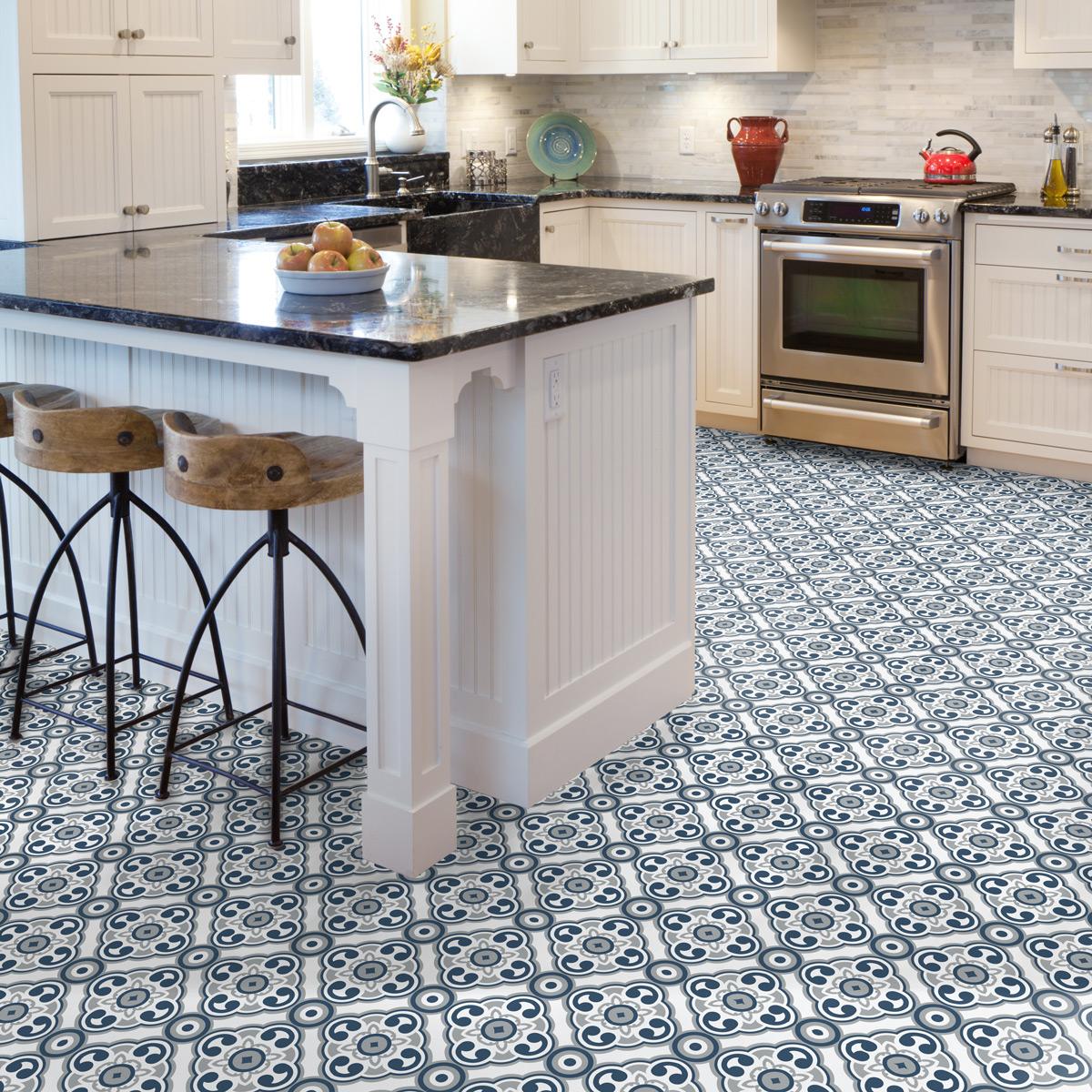 Wall decal floor tiles Lino non-slip - 9x9 cm