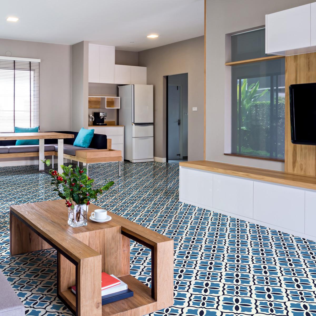 stickers carrelages sol livinio anti d rapant stickers. Black Bedroom Furniture Sets. Home Design Ideas