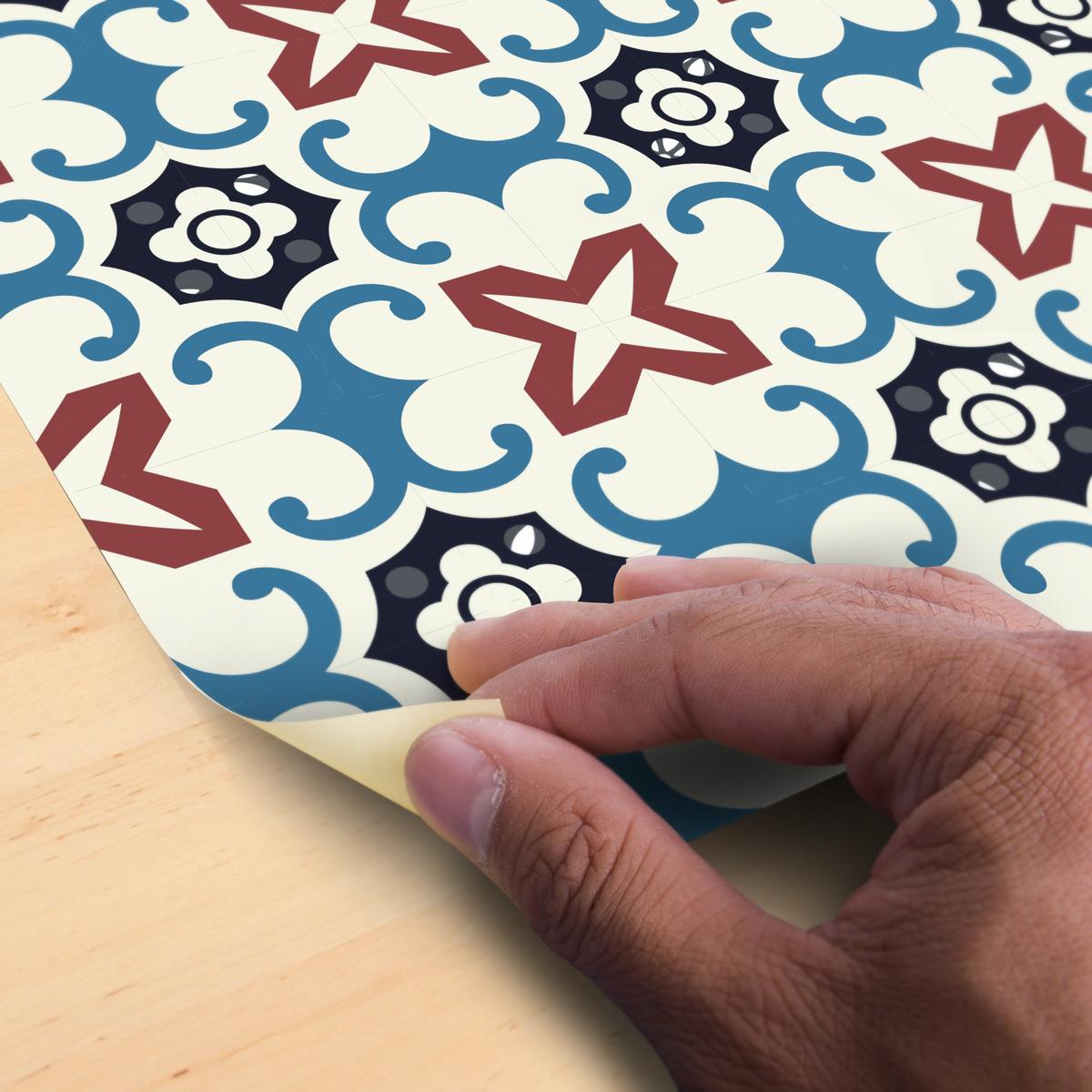 stickers carrelages sol maha anti d rapant 60x100 cm. Black Bedroom Furniture Sets. Home Design Ideas