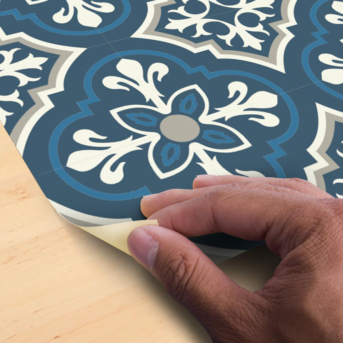 stickers carrelages sol ortega anti d rapant 60x100 cm. Black Bedroom Furniture Sets. Home Design Ideas