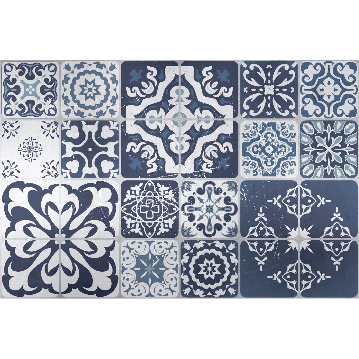 stickers carrelages sol saviero anti d rapant 60 x 90 cm. Black Bedroom Furniture Sets. Home Design Ideas
