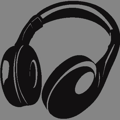 Dessin Casque Audio casque radio - stickers mural musique