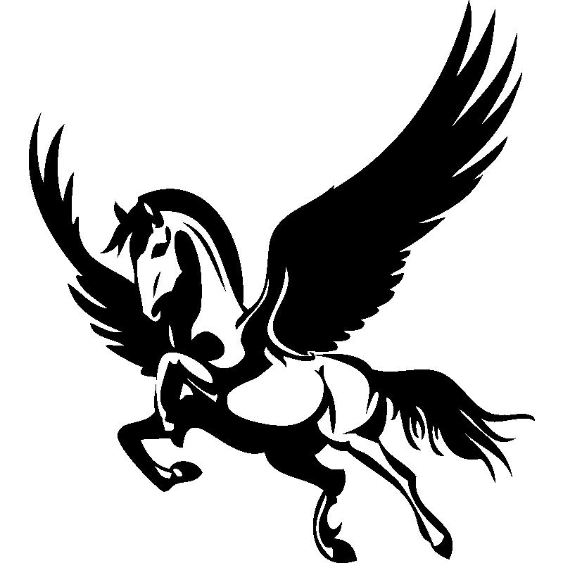 Cheval volant stickers mural animaux - Dessin de pegase a imprimer ...