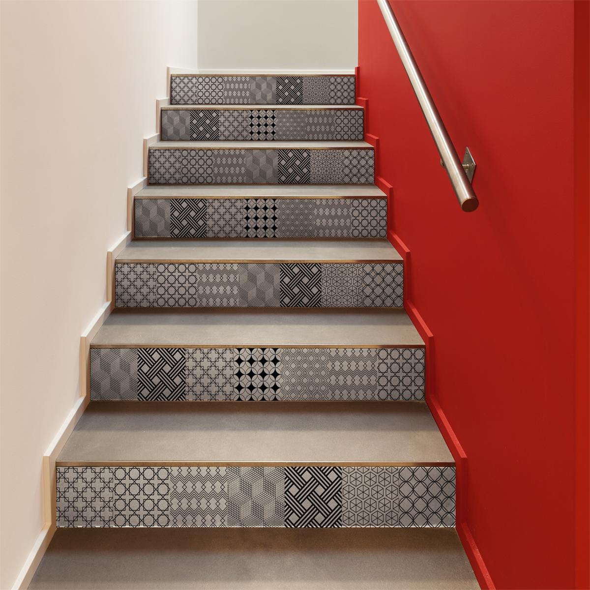 Carrelage Sur Marche D Escalier stickers contremarche carrelages gerda x 2