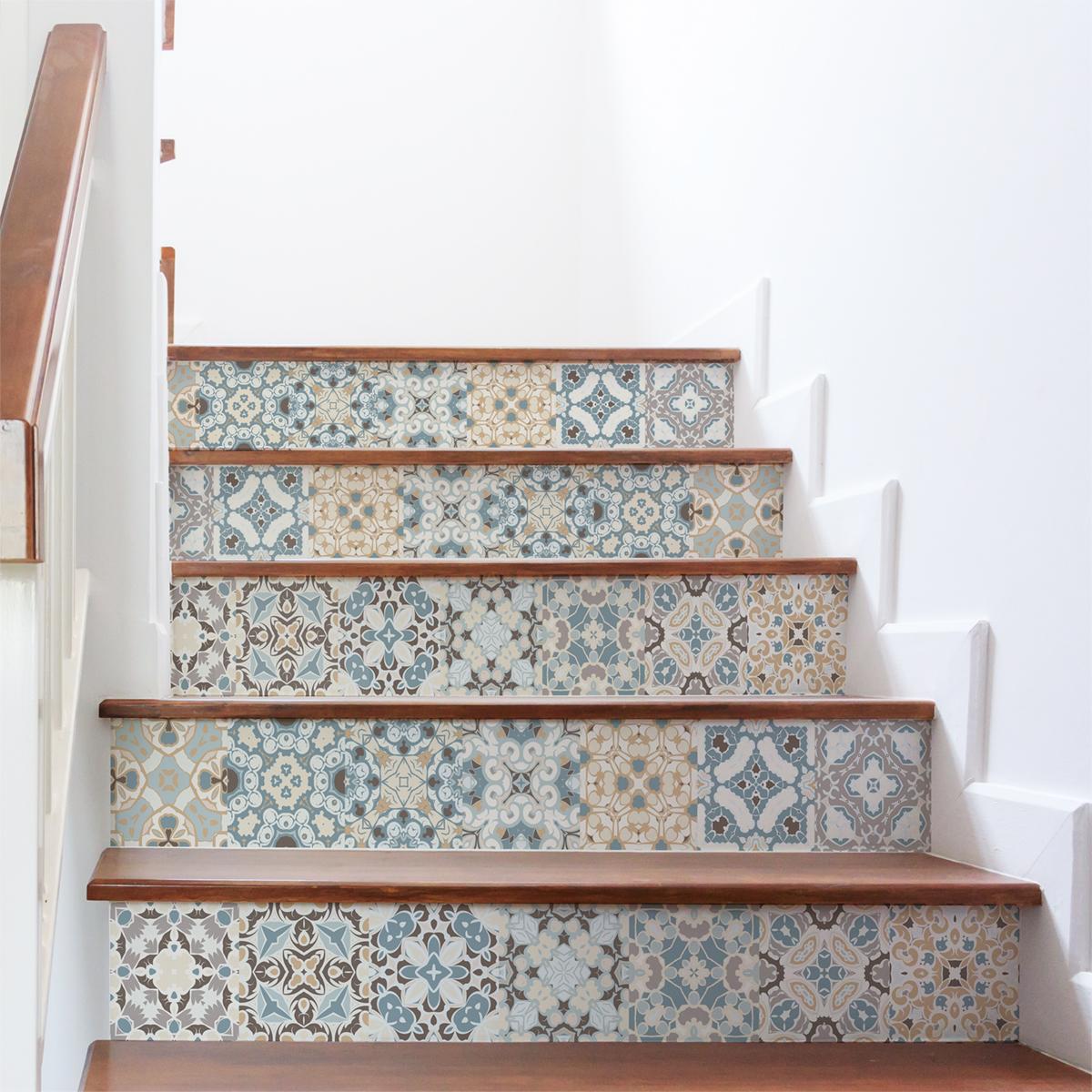 Ajouter Des Contre Marche Escalier stickers contremarche carrelages ornements stylé x 2