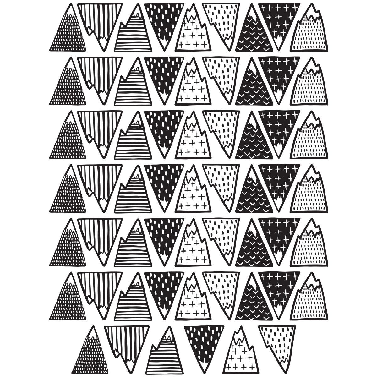 MSV Anti-Slip Sticker Stars 5 pcs in White Fabric,