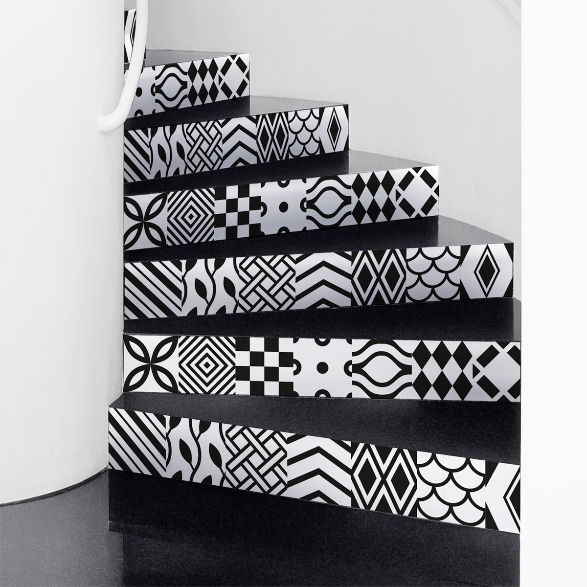 stickers escaliers carreaux de ciment bahuma sticker. Black Bedroom Furniture Sets. Home Design Ideas