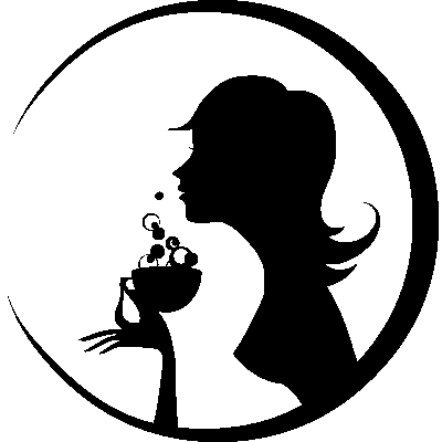 Sexy Woman Drinking Coffee Silhouette Wall Mural