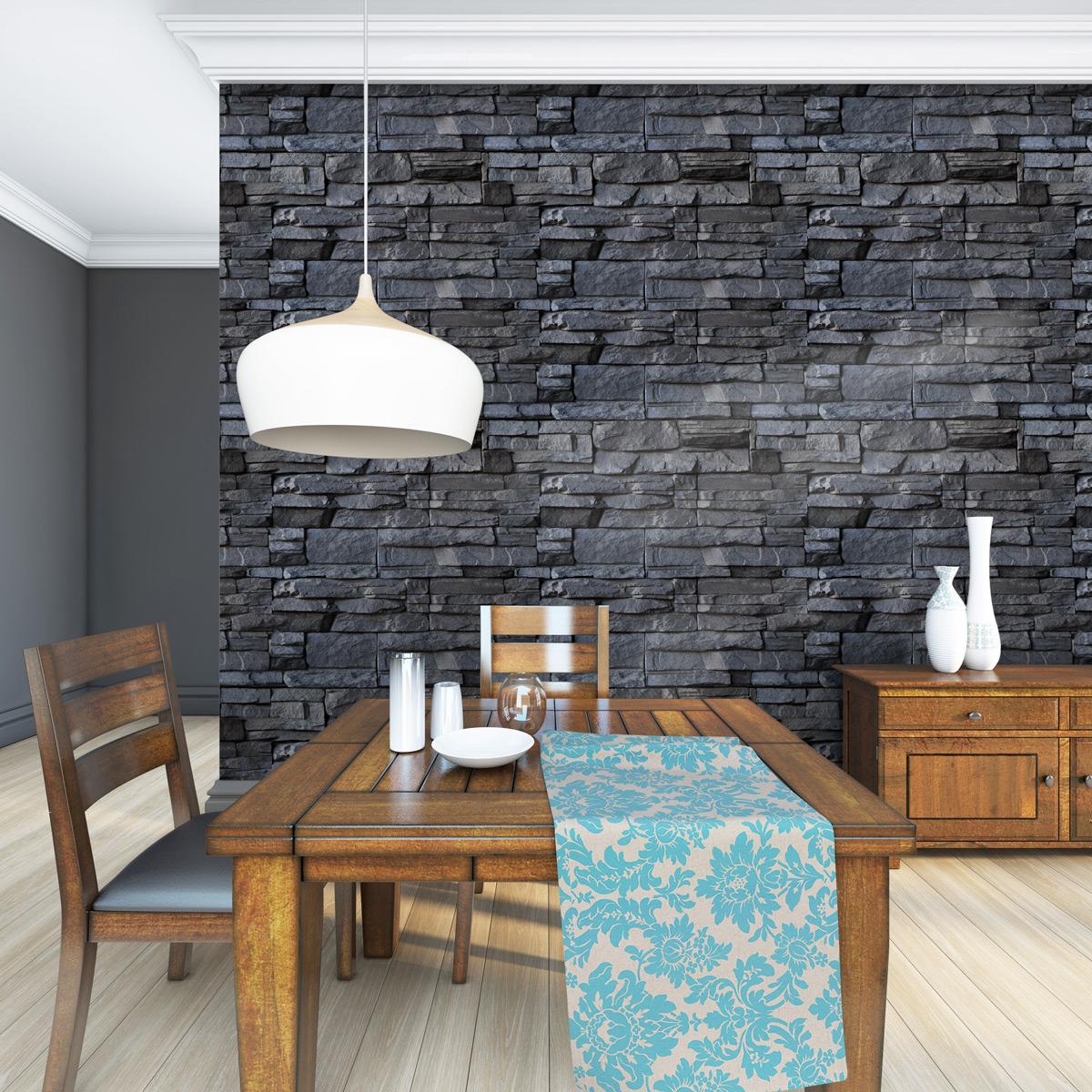 Mur Parement Interieur Ardoise stickers parement de pierres volcaniques