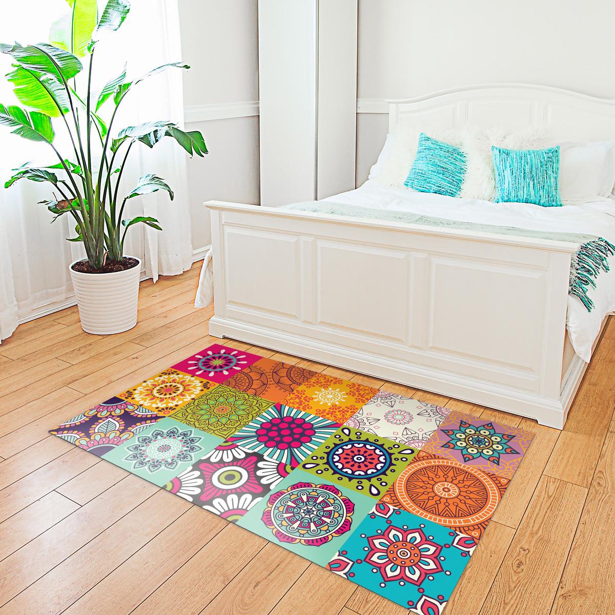 tapis vinyle carrelages azteka 60 x 100 cm stickers. Black Bedroom Furniture Sets. Home Design Ideas