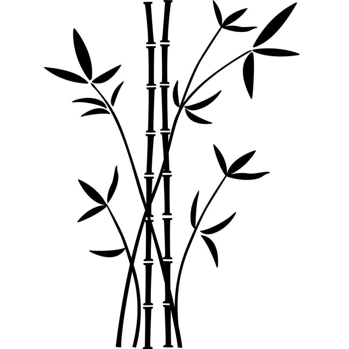Tiges Et Feuilles De Bambou