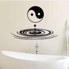 Stickers salle de bains: zen - stickers muraux salle de bain ...